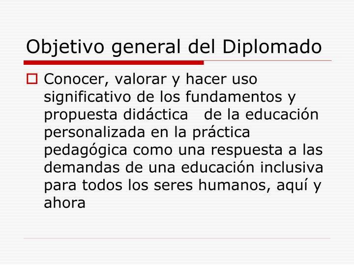 Objetivo general del Diplomado