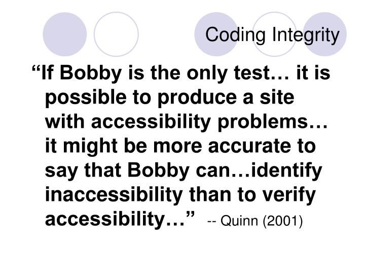 Coding Integrity
