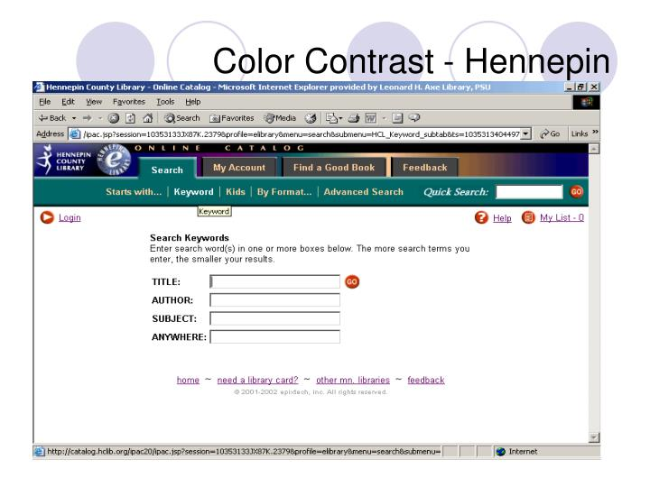 Color Contrast - Hennepin
