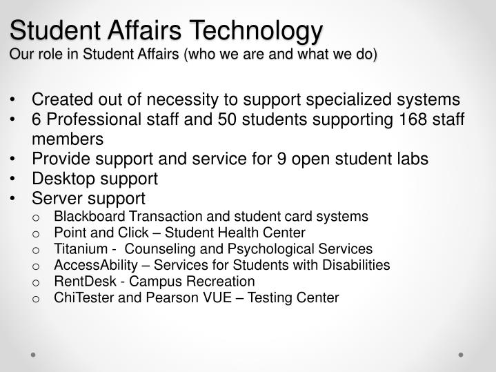 Student Affairs Technology