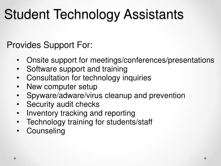 Student Technology Assistants