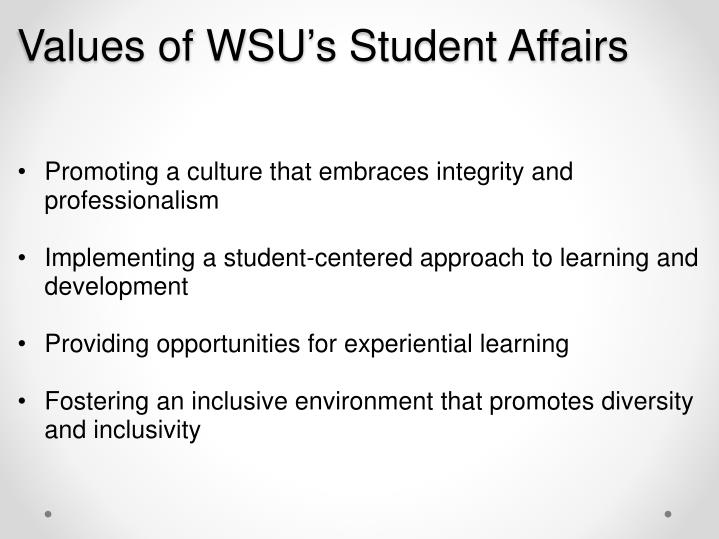 Values of WSU