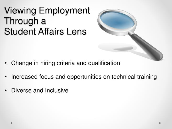 Viewing Employment