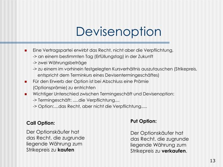 Devisenoption
