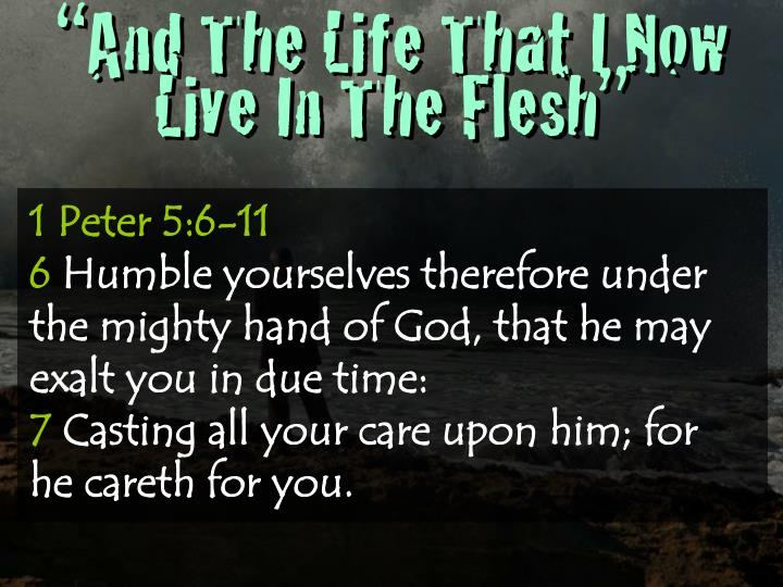 """And The Life That I Now Live In The Flesh"""