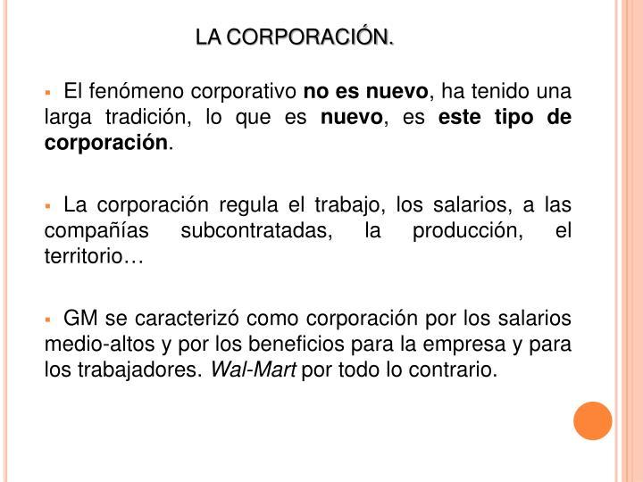 El fenómeno corporativo