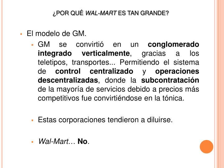 El modelo de GM.