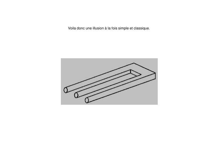 Voila donc une illusion à la fois simple et classique.