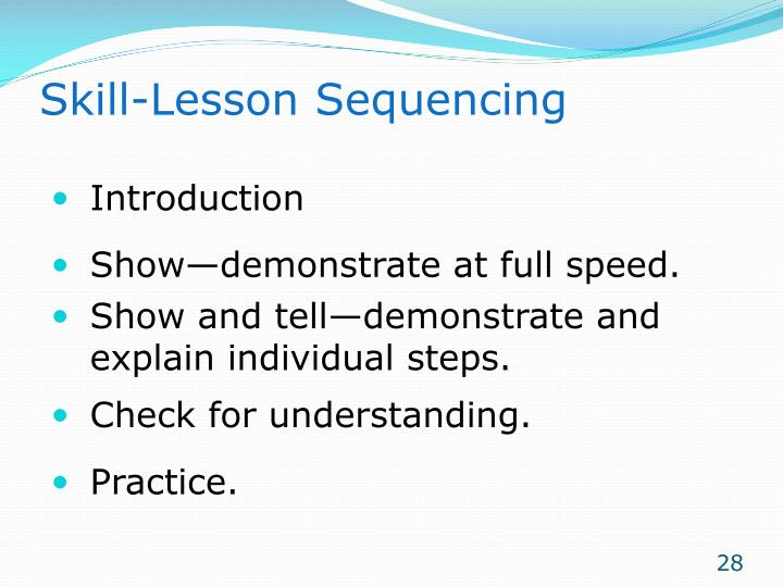 Skill-Lesson Sequencing