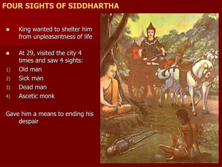 FOUR SIGHTS OF SIDDHARTHA