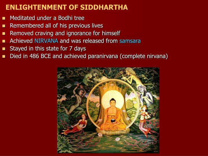 ENLIGHTENMENT OF SIDDHARTHA