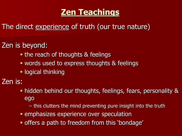 Zen Teachings