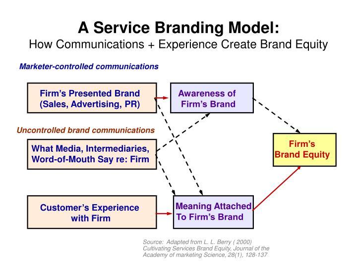 Firm's Presented Brand (Sales, Advertising, PR)