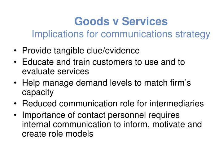 Goods v Services