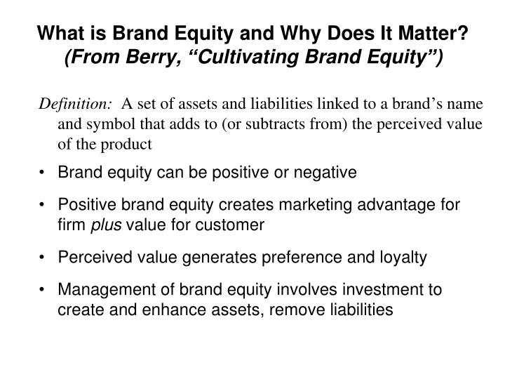 What is Brand Equity and Why Does It Matter?