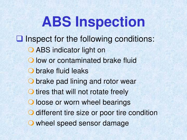 ABS Inspection