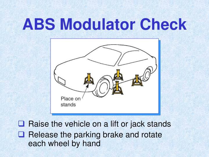 ABS Modulator Check