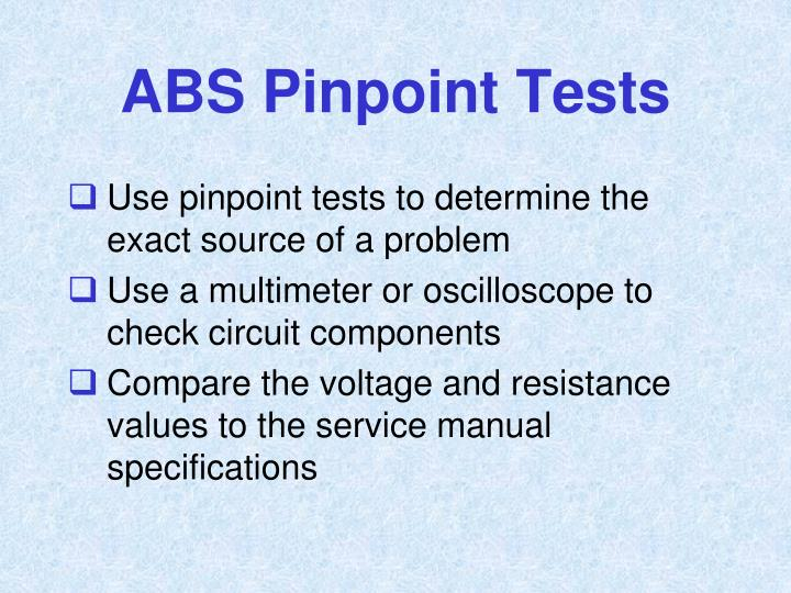 ABS Pinpoint Tests