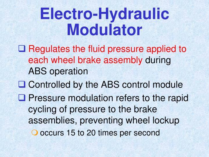Electro-Hydraulic Modulator