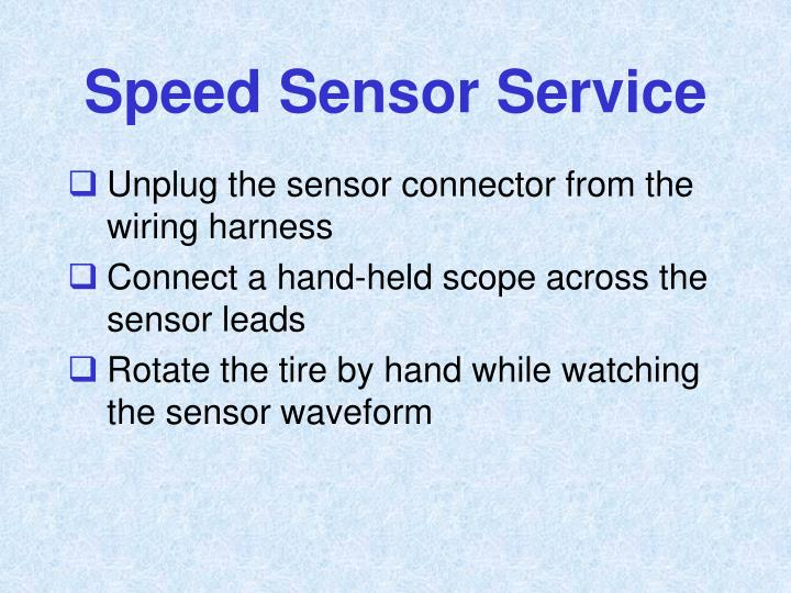Speed Sensor Service