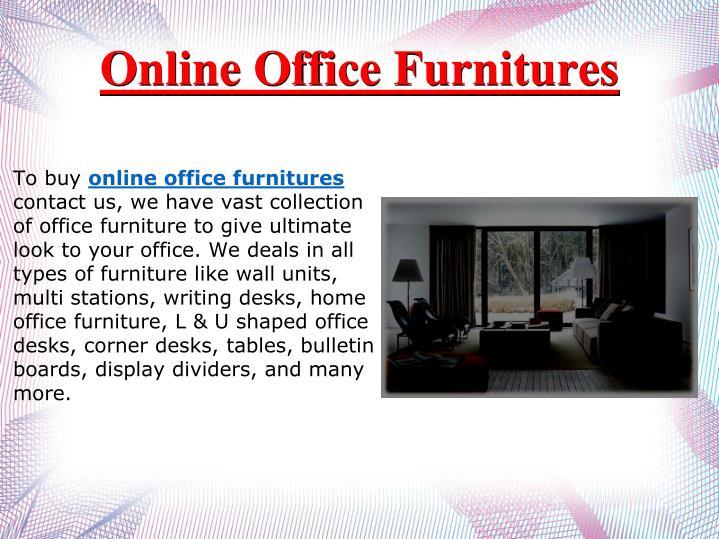 Online Office Furnitures