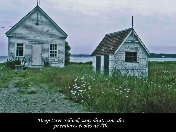Deep Cove School, sans doute une des premières écoles de l'île