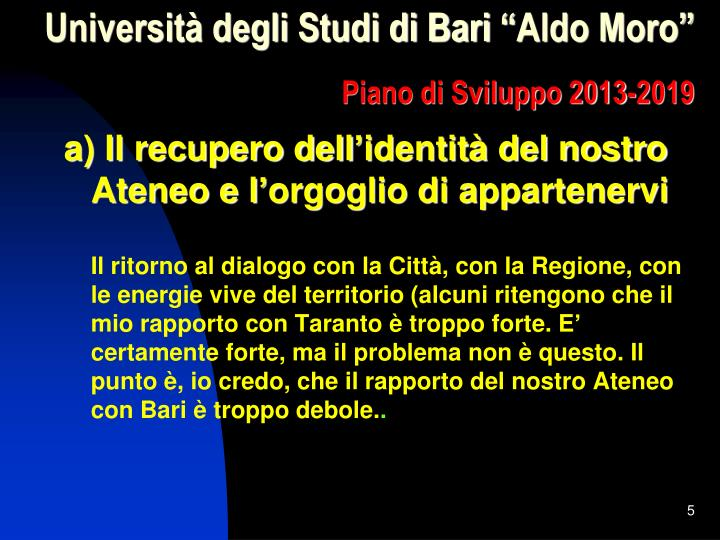 Università degli Studi di Bari