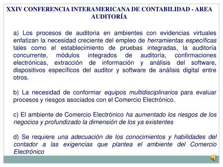 XXIV CONFERENCIA INTERAMERICANA DE CONTABILIDAD - AREA AUDITORÍA