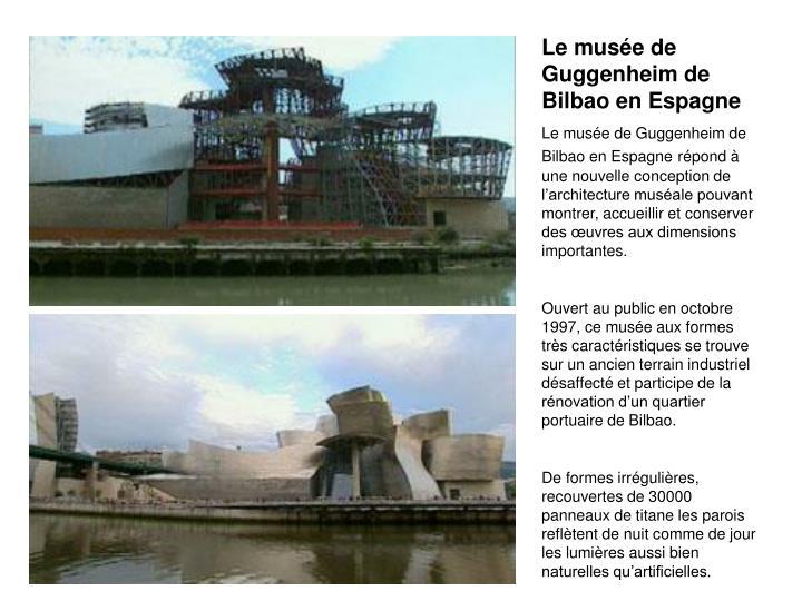 Le muse de Guggenheim de Bilbao en Espagne
