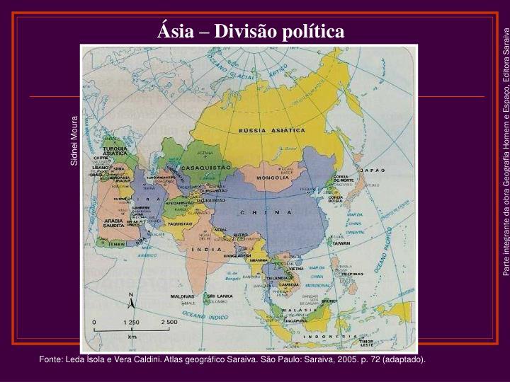 Ásia – Divisão política