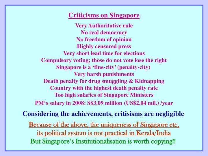 Criticisms