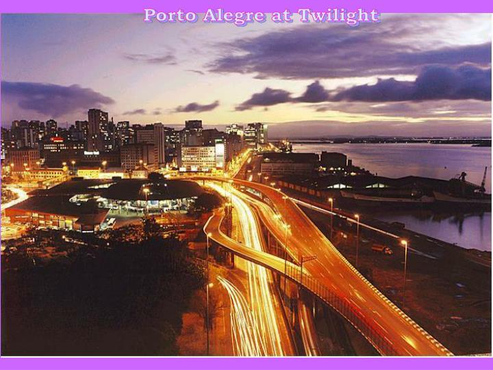 Porto Alegre at Twilight