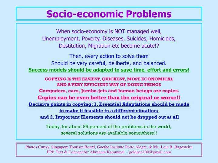 Socio-economic Problems