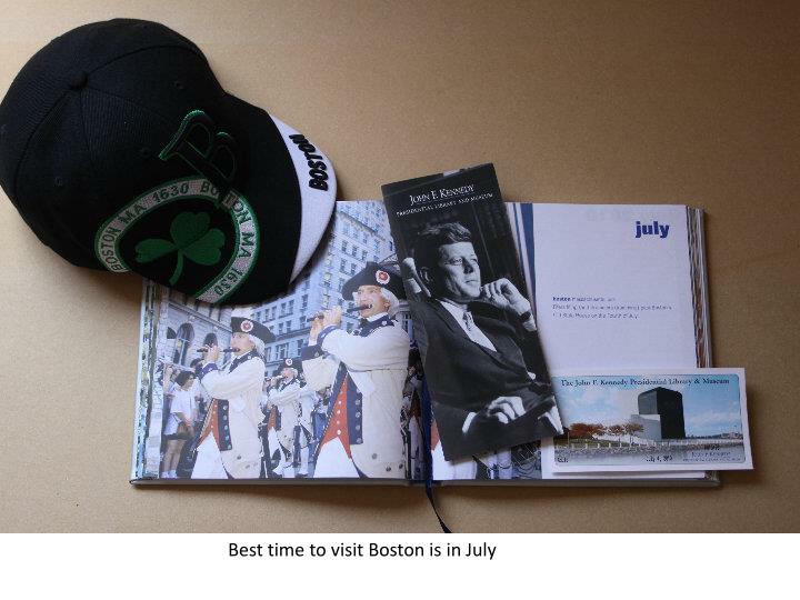 Best time to visit Boston is in July