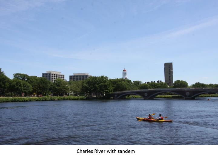 Charles River with tandem