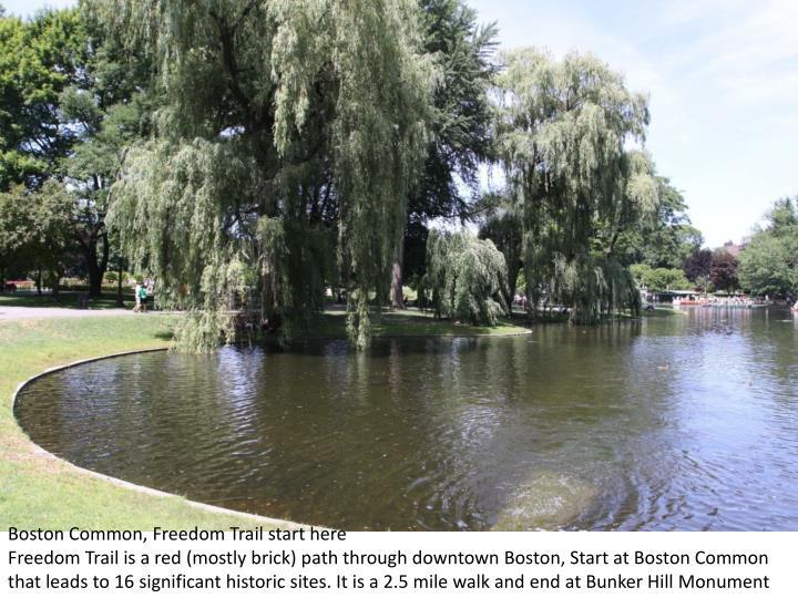 Boston Common, Freedom Trail start here