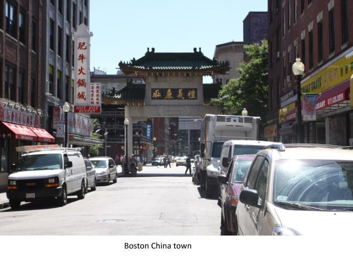 Boston China town