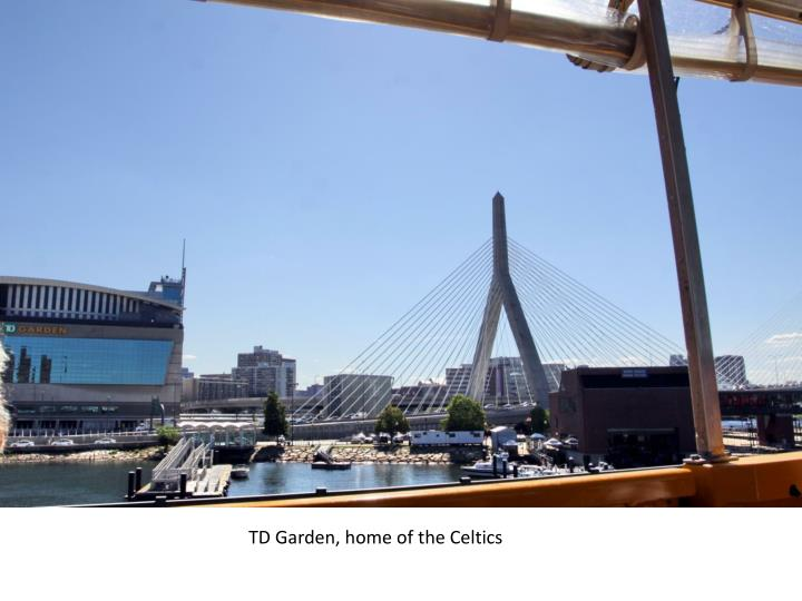 TD Garden, home of the Celtics