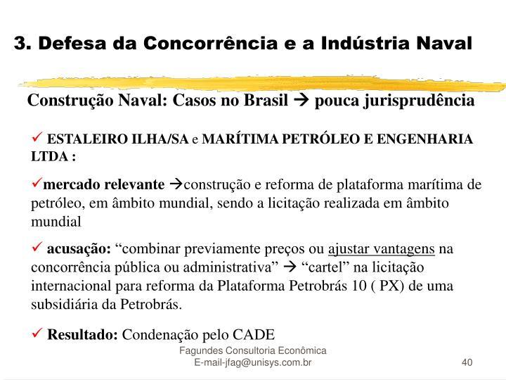 3. Defesa da Concorrência e a Indústria Naval