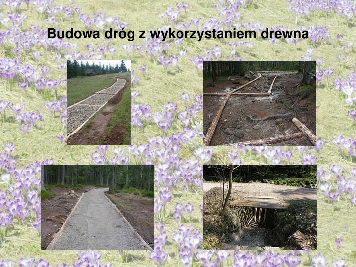 Budowa dróg z wykorzystaniem drewna