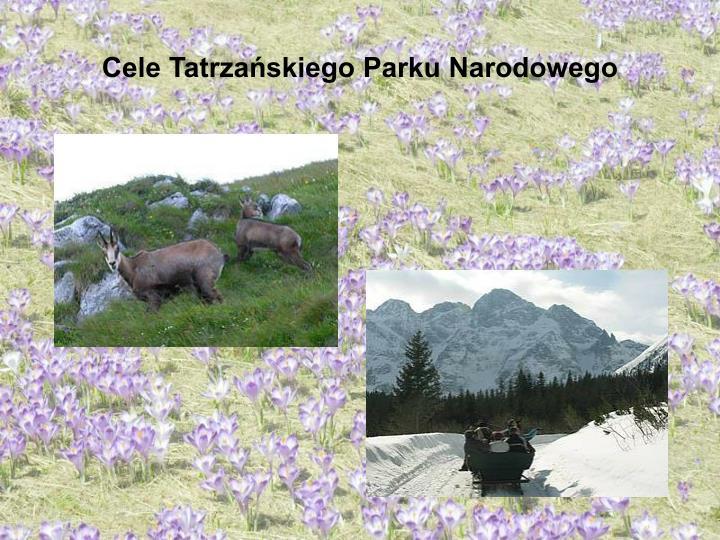 Cele Tatrzańskiego Parku Narodowego