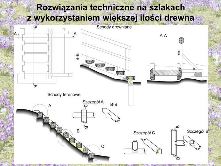 Rozwiązania techniczne na szlakach