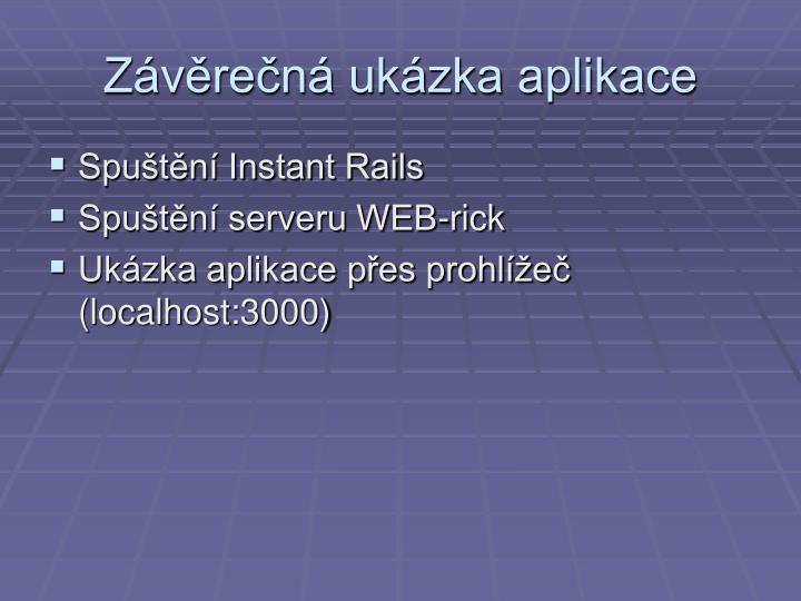 Závěrečná ukázka aplikace