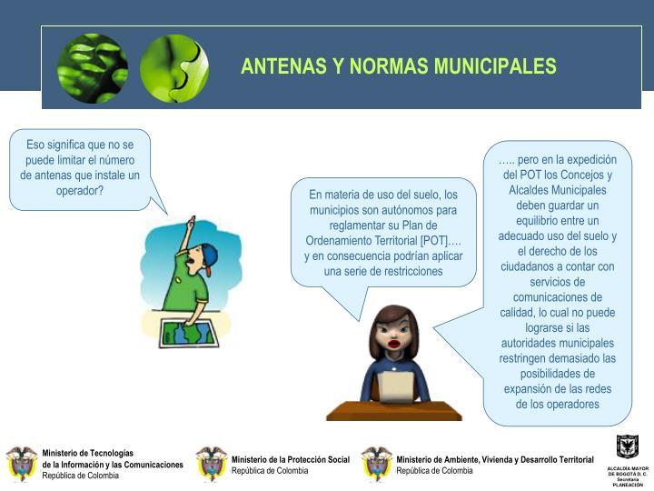 ANTENAS Y NORMAS MUNICIPALES
