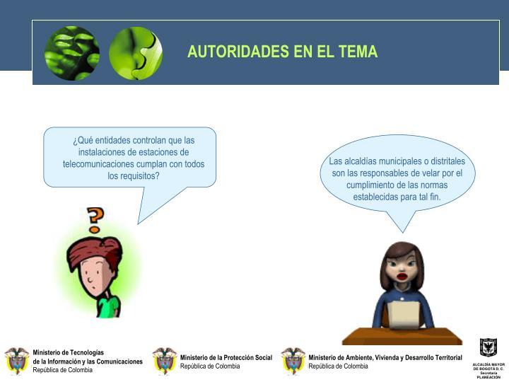 AUTORIDADES EN EL TEMA
