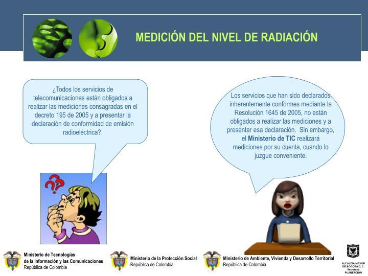 MEDICIÓN DEL NIVEL DE RADIACIÓN