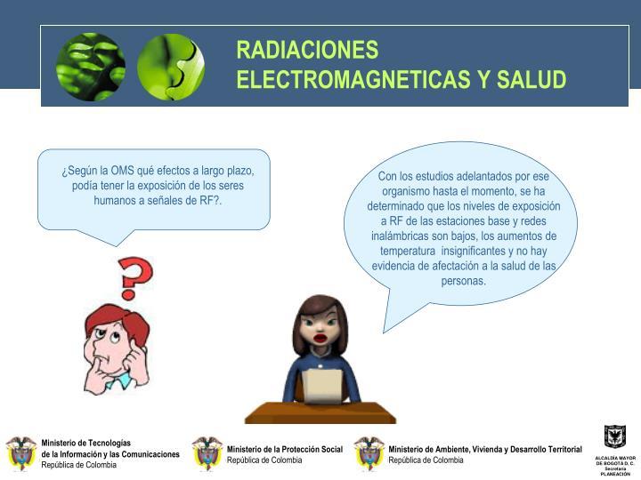 RADIACIONES ELECTROMAGNETICAS Y SALUD