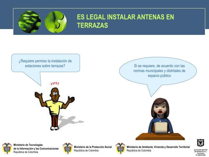 ES LEGAL INSTALAR ANTENAS EN TERRAZAS