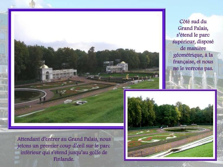 Ct sud du Grand Palais, stend le parc