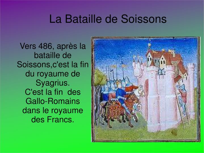 La Bataille de Soissons
